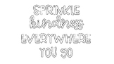 Sprinkle Kindness Bulletin Board