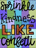 Sprinkle Kindness Like Confetti - 25-Piece Collaborative Color-By-Number Poster