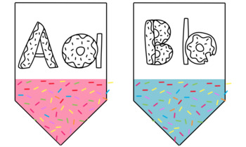 Sprinkled Donut Banners | Includes Alphabet & Numbers
