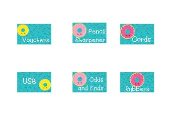 Sprinkled Donut Theme Bunnings Teacher Toolkit Labels Editable