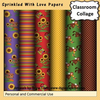 Sprinkled With Love Digital Papers Set  personal & commercial use