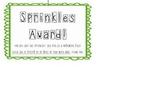 Sprinkles Award!