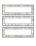 Sprinkles Desk Name Tag