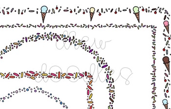 Sprinkles Frames Digital Clip Art Set