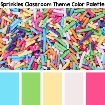 Sprinkles Themed Alphabet Cards