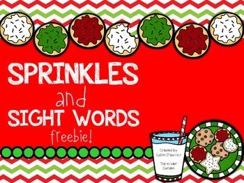 Sprinkles and Sight Words {Freebie}