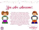 Sprinkles of Encouragement Reward Cards