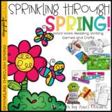 Spring Activities Word Work, Reading Writing & Crafts -Sprinkling Through Spring