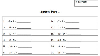 Sprint- Integers