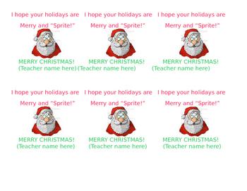 Sprite Christmas printable