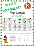 Spring Vocabulary Free Sample
