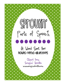 Sproutin' Parts of Speech Word Sort [FREEBIE!]