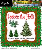 Spruce the Halls Clip Art