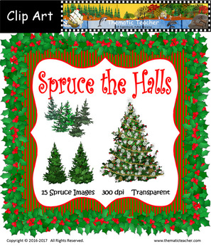 Spruce the Halls Clip Art