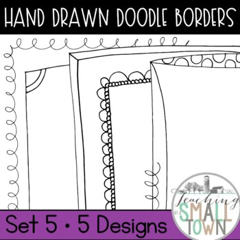 20 Doodle Border Frames // Mini Set #5 //  Personal and Commercial Use