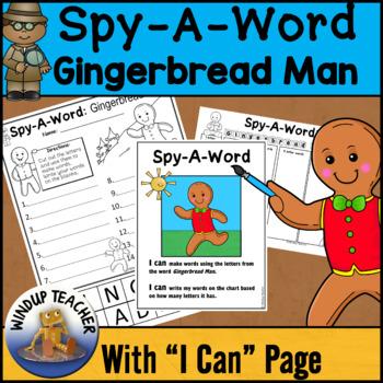Gingerbread Man Words