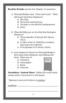Spy Academy (Tracey West) Novel Study / Reading Comprehension Unit