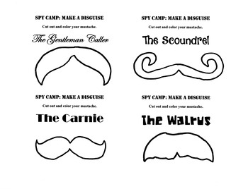 Spy Camp--Mustache Disguise