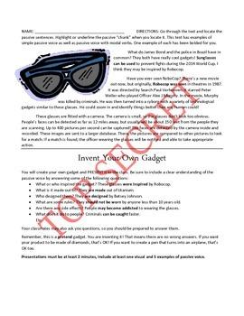 Spy Gadgets and Passive Voice (Alex Rider: Operation Stormbreaker)