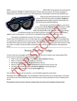 Spy Gadgets and Passive Voice (Alex Rider: Operation Stormbreaker)