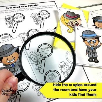 Spy Game - Apraxia of Speech Activities - Low Prep Speech Therapy Activities