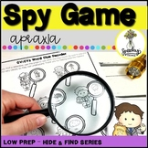 Spy Game - Apraxia - Low Prep Articulation Activity