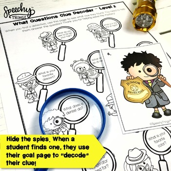 Spy Game - BUNDLE - Low Prep Speech and Language Therapy