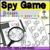 Spy Game - Speech Therapy FREEBIE - Low Prep Articulation Freebie