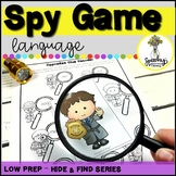 Spy Game - Language Activities - Low Prep Speech Therapy