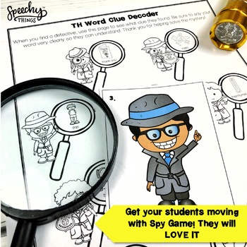 Spy Game - Late Sounds - Low Prep Articulation Activities