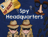 Spy Headquarters Center Activities [Interactive Classroom]