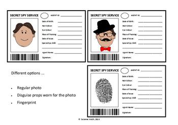Girls secret agent badge template   spy badge   printable template.