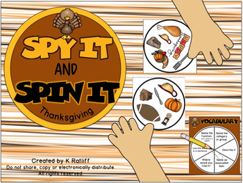 Spy It and Spin It: Thanksgiving-- A Vocabulary and/or Pho