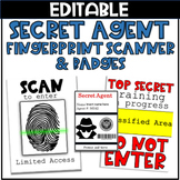 Spy Room Transformation: Secret Agent Badges and Fingerprint Scanner