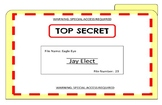"Spy Theme ""Top Secret"" File Folder Cover"