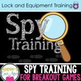 Spy Training - Lock and Accessory Training for Escape Room