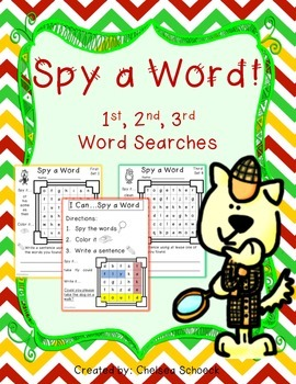 Spy a Word {First, Second, Third Word Searches}