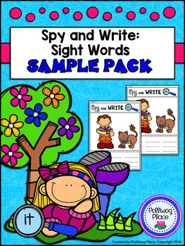 Spy and Write Sight Words - Sample Pack {Free}