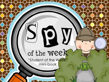 Spy of the Week - a detective themed Student of the Week mini-book