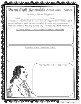 American Revolution Spies: Activity Pack for Grades 5-8