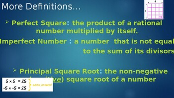 Sqaure Roots Lesson Plan