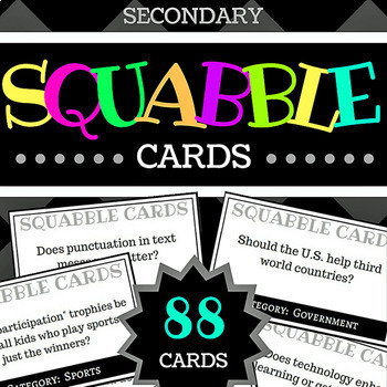 Squabble Cards, Secondary