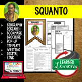 Squanto Biography Research, Bookmark Brochure, Pop-Up, Writing, Google Link