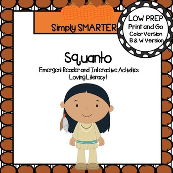 Squanto Emergent Reader Book AND Interactive Activities