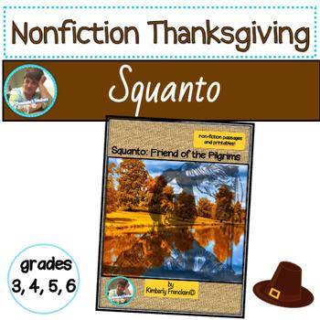 Squanto, Friend of the Pilgrims: Non-Fiction Passages & Printables
