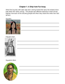 Squanto: Friend of the Pilgrims Study Guide