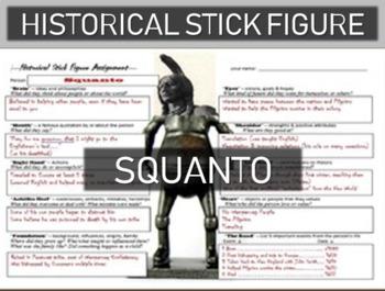 Squanto Historical Stick Figure (Mini-biography)