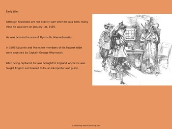 Squanto - Life Story - Power Point - History Facts Pilgrims Thanksgiving