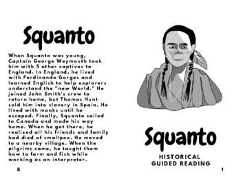 Squanto Thanks Giving Cross Curriculum