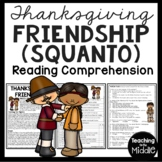 Squanto and the Pilgrims Article, Questions, Native Americans, Thanksgiving